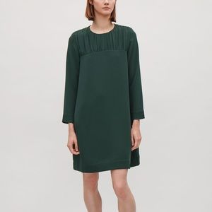 NWT COS babydoll dress in forest green